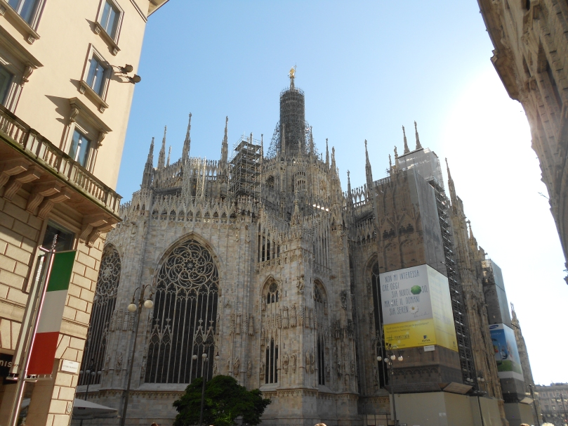 first sight of the Duomo