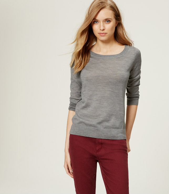 Loft Button Back Sweater