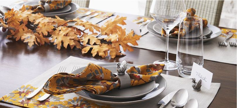 Crate and Barrel Table Setting