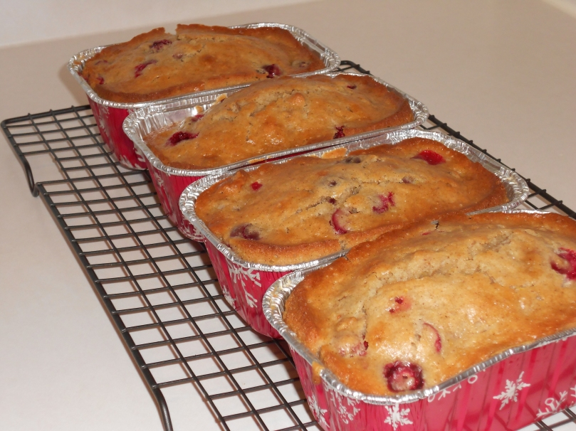 Sadie Dishes- Cranberry Nut Bread