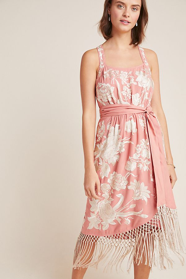 Anthropology Pink Dress